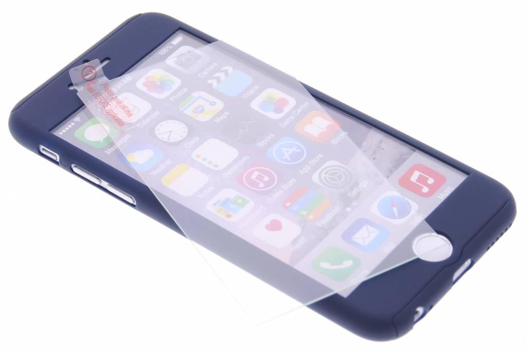 Donkerblauwe 360° effen protect case voor de iPhone 6(s) Plus