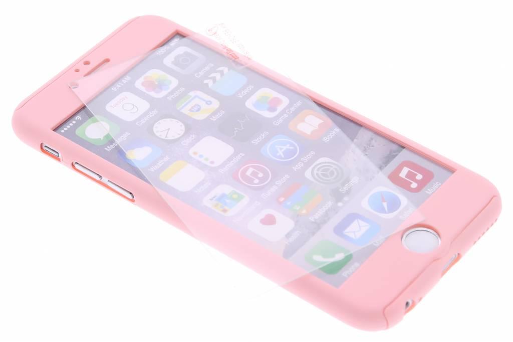 Roze 360° effen protect case voor de iPhone 6(s) Plus
