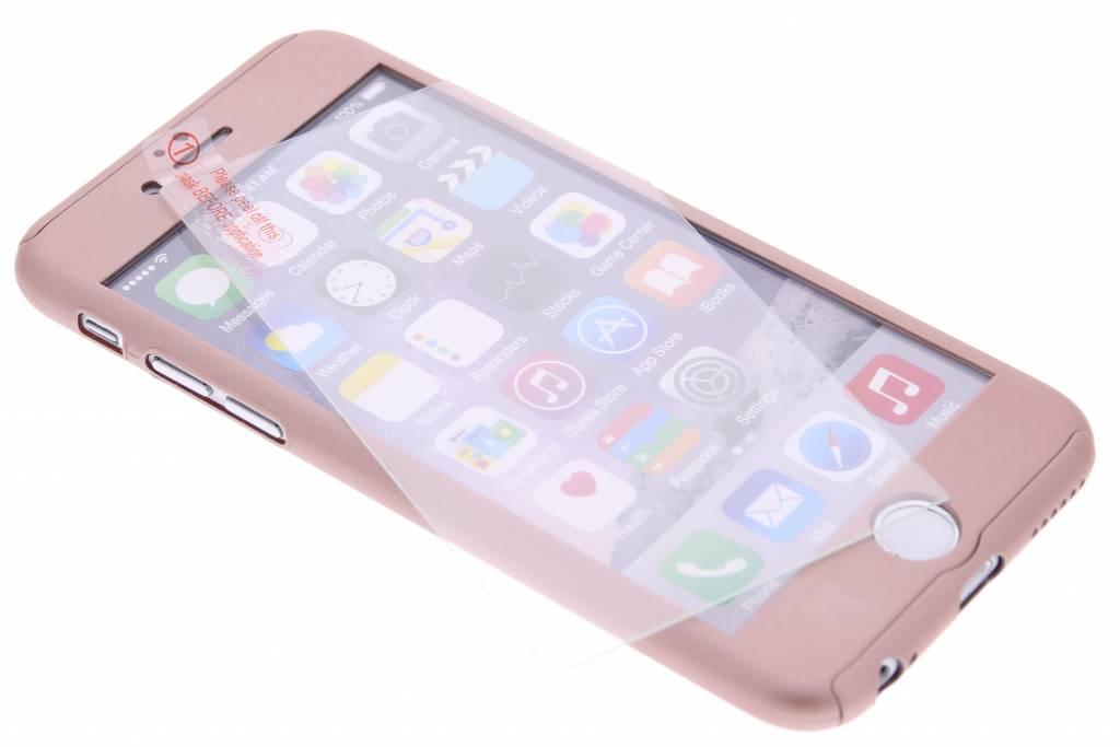 Roze metallic 360° effen protect case voor de iPhone 6(s) Plus