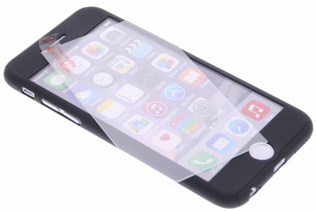 Zwarte 360° effen protect case voor de iPhone 6 / 6s