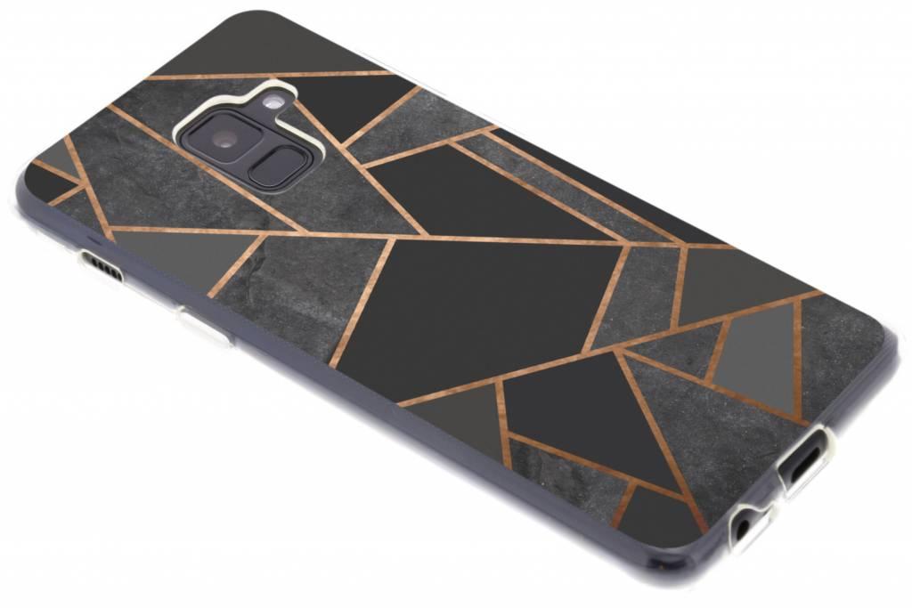 Zwart Grafisch design TPU hoesje voor de Samsung Galaxy A8 (2018)