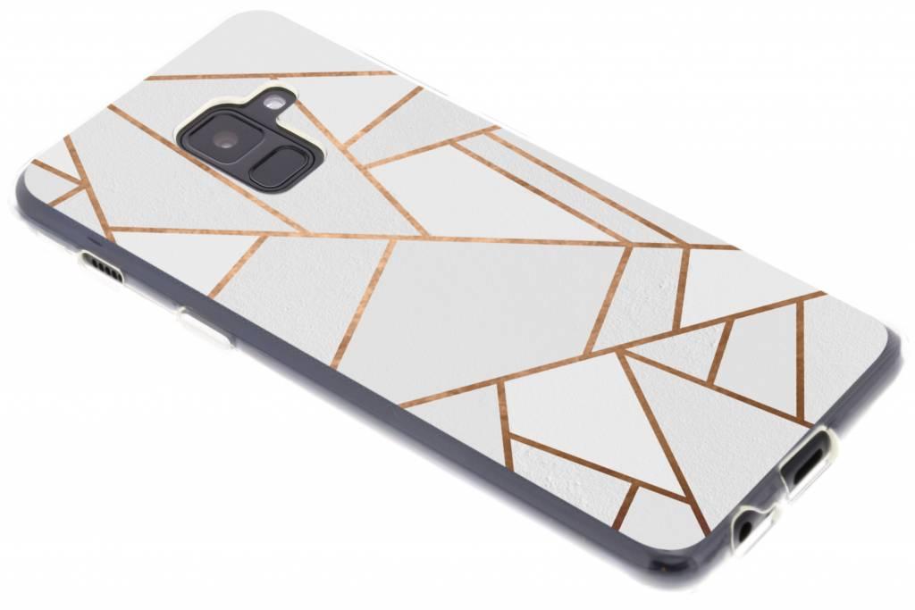 Wit Grafisch design TPU hoesje voor de Samsung Galaxy A8 (2018)