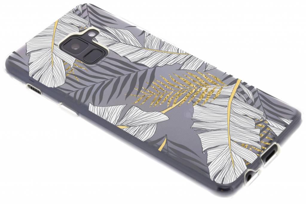 Botanic design TPU hoesje voor de Samsung Galaxy A8 (2018)