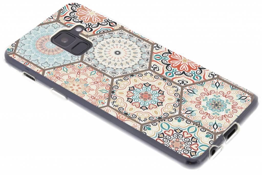 Hippie design TPU hoesje voor de Samsung Galaxy A8 (2018)