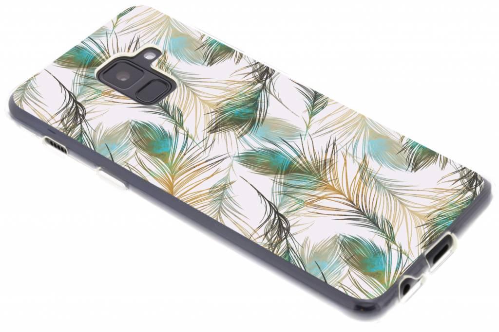 Feathers design TPU hoesje voor de Samsung Galaxy A8 (2018)