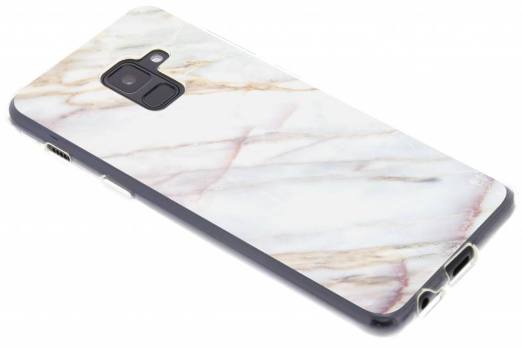 Marmer design TPU hoesje voor de Samsung Galaxy A8 (2018)