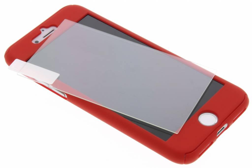 Rode 360° effen protect case voor de iPhone 8 / 7