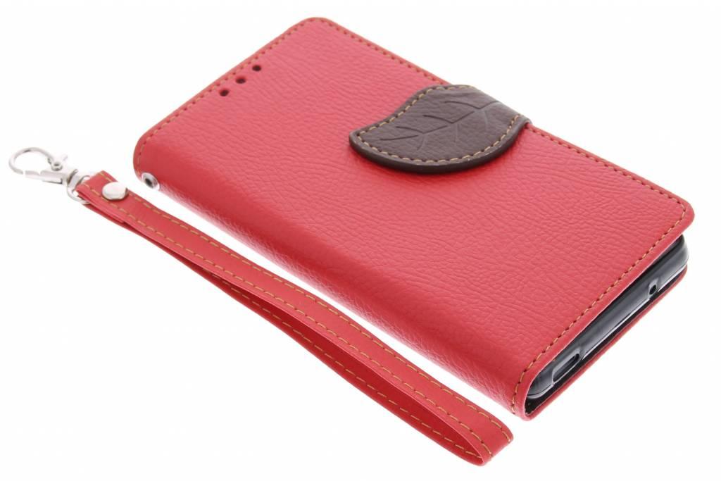 Rode blad design TPU booktype hoes voor de Sony Xperia Z3 Compact
