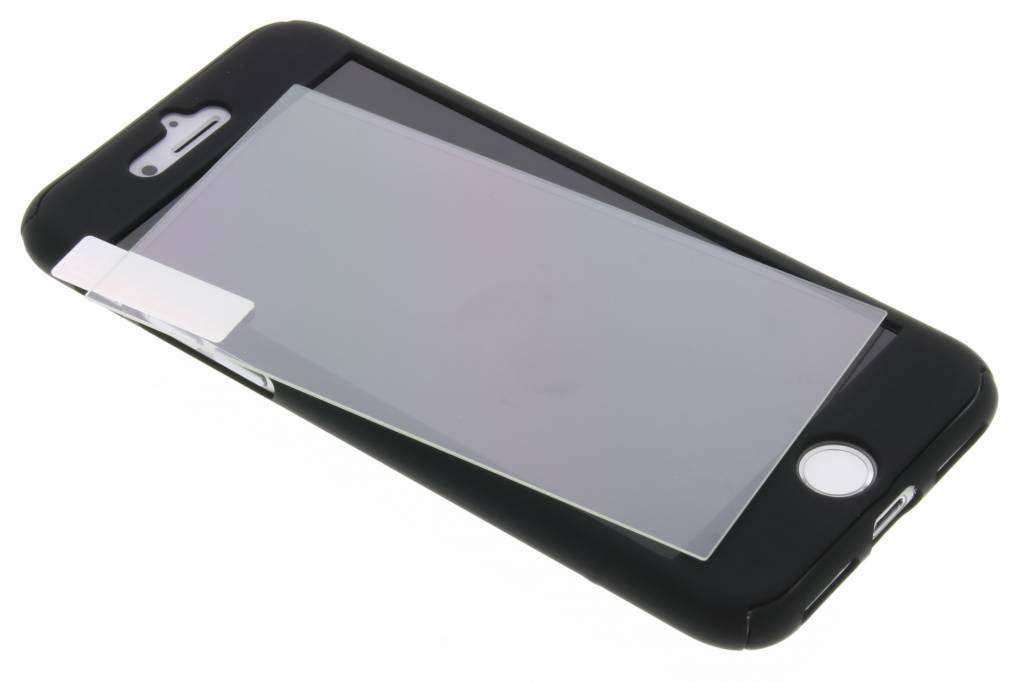 Zwarte 360° effen protect case voor de iPhone 8 Plus / 7 Plus