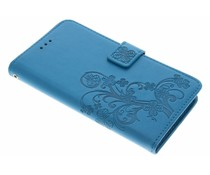 Klavertje bloemen booktype hoes Sony Xperia L1