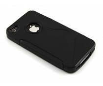 Zwart S-line TPU hoesje iPhone 4(s)