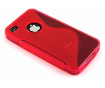 Rood S-line TPU hoesje iPhone 4(s)