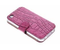Valenta Booklet Slim Glam iPhone 4 / 4s - Fuchsia