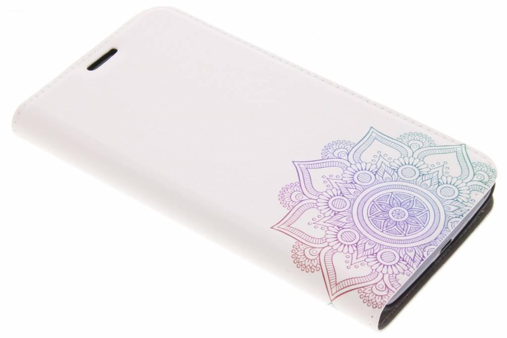 Multicolor Mandala Design Booklet voor de Motorola Moto E4