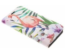 Flamingo Design Booklet Motorola Moto E4