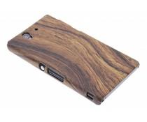 Hout design hardcase hoesje Sony Xperia Z