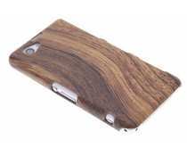 Hout design hardcase Sony Xperia Z1 Compact