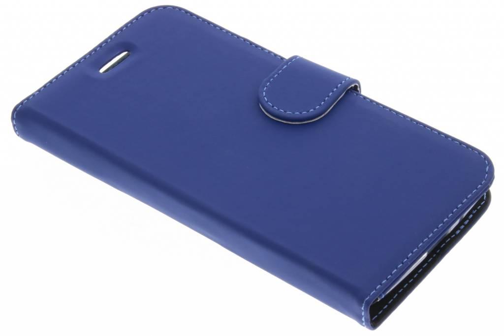 Accezz Blauwe Wallet TPU Booklet voor de Motorola Moto E4