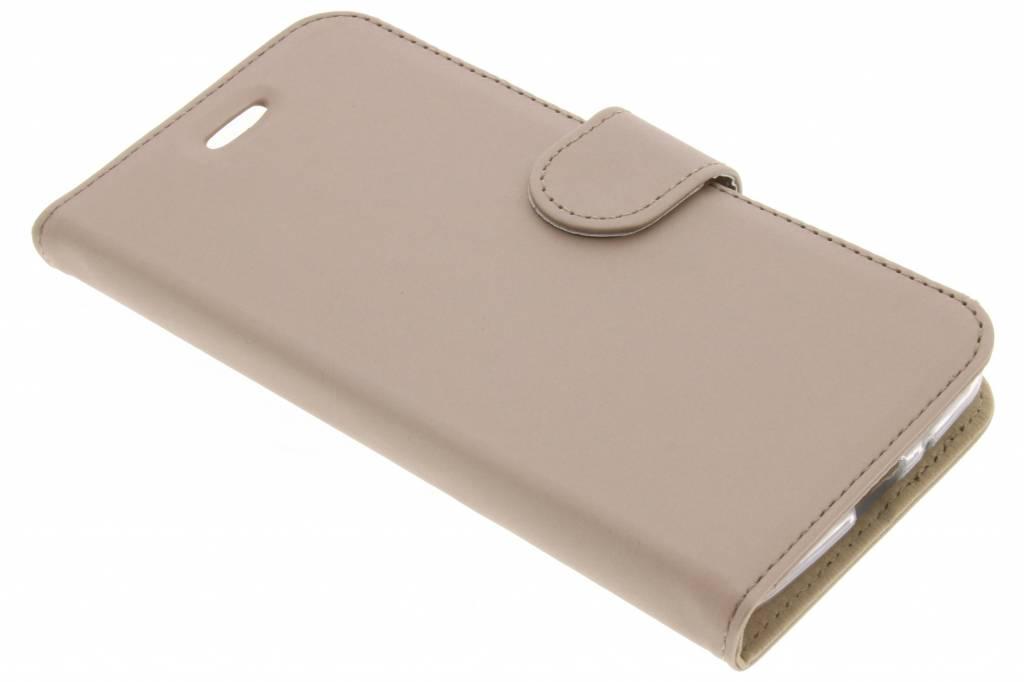 Accezz Gouden Wallet TPU Booklet voor de Motorola Moto E4