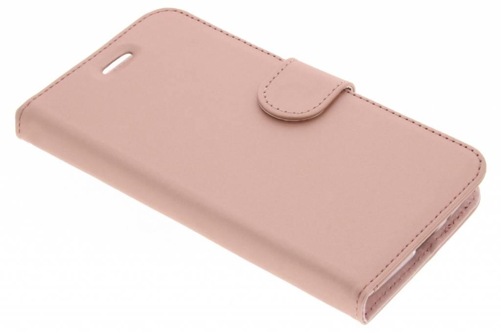 Accezz Rosé Gouden Wallet TPU Booklet voor de Motorola Moto E4