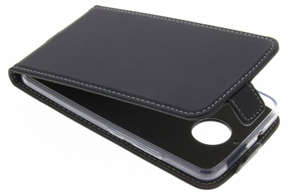 Accezz Zwarte TPU Flipcase voor de Motorola Moto E4