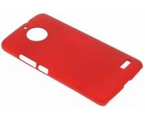 Rood effen hardcase hoesje Motorola Moto E4