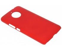 Rood effen hardcase hoesje Motorola Moto E4 Plus