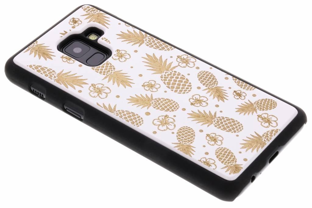 Wit ananas hout hardcase hoesje voor de Samsung Galaxy A8 (2018)