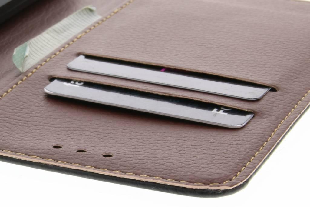 Conception Feuille Noire Cas Booktype Tpu Pour Huawei Lite P20 vDNedWC
