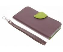 Bruin blad design TPU booktype hoes Motorola Moto G 3rd Gen