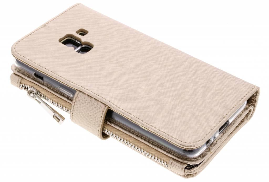Red Saffiano 9 Emplacements Cas De Porte-monnaie Pour Samsung Galaxy A8 (2018) EnnvcWB5w