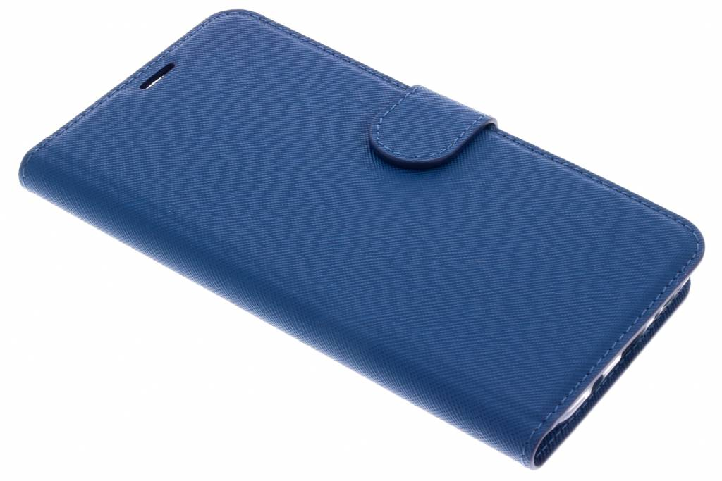 Blauwe Saffiano booktype hoes voor de Samsung Galaxy S9 Plus