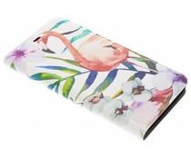 Flamingo Design Booklet Motorola Moto G5S
