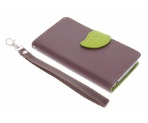 Bruin blad design TPU booktype hoes Acer Liquid Z520