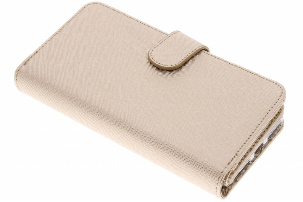 Gouden Saffiano 9 slots portemonnee hoes voor de iPhone 8 Plus / 7 Plus / 6(s) Plus
