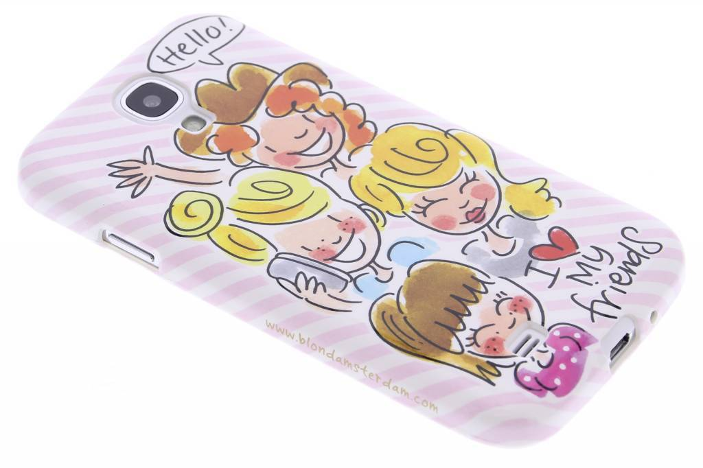 Blond Amsterdam I love my friends softcase voor de Samsung Galaxy S4 Mini