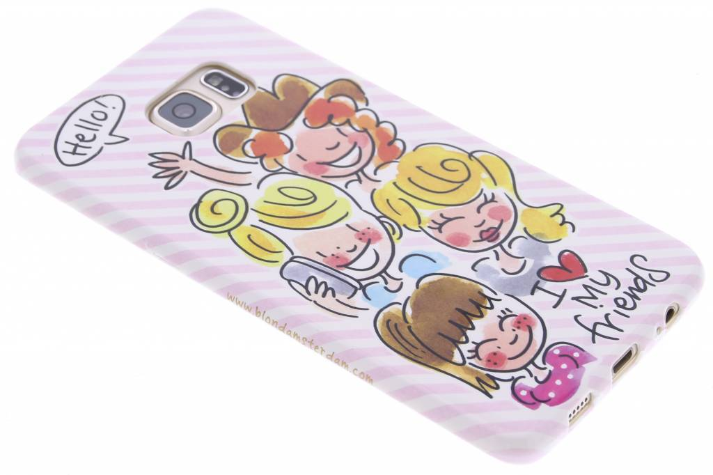 Blond Amsterdam I love my friends softcase voor de Samsung Galaxy S6 Edge Plus
