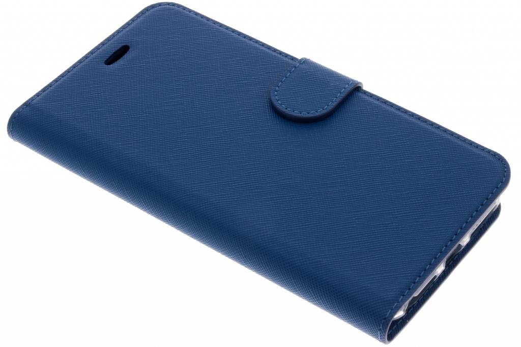 Blauwe Saffiano booktype hoes voor de iPhone 8 Plus / 7 Plus / 6(s) Plus