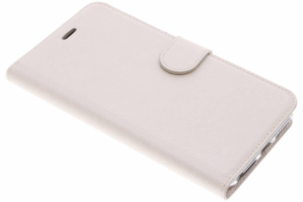 Gebroken witte Saffiano booktype hoes voor de iPhone 8 Plus / 7 Plus / 6(s) Plus