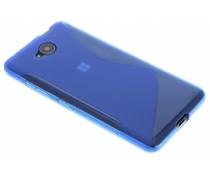Blauw S-line TPU hoesje Microsoft Lumia 650