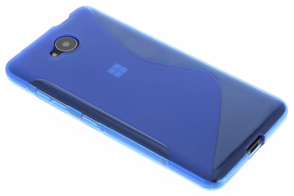 Blauw S-line TPU hoesje voor de Microsoft Lumia 650
