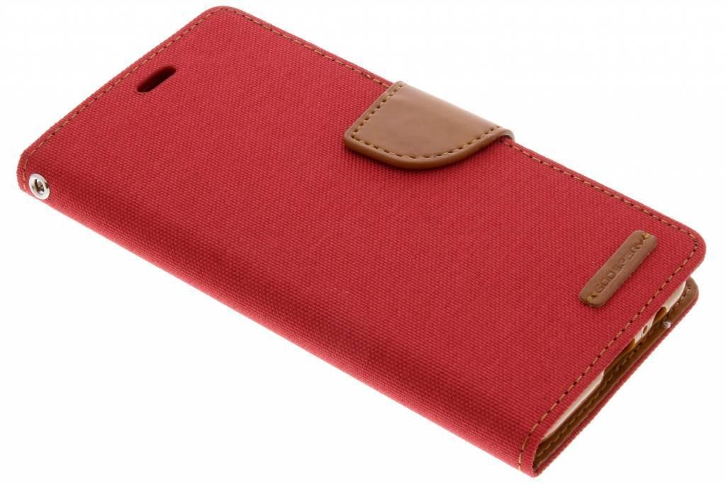 Rode Canvas Diary Case voor de Samsung Galaxy A8 (2018)