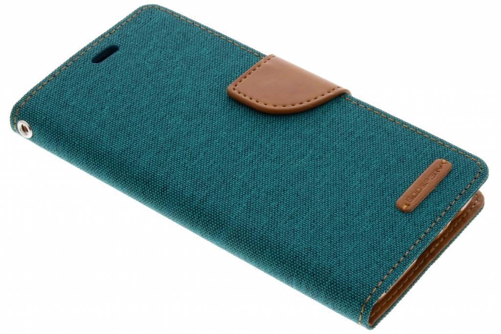 Groene Canvas Diary Case voor de Samsung Galaxy A8 (2018)