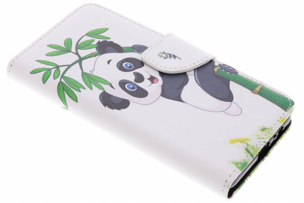 Panda in boom design TPU booktype hoes voor de Samsung Galaxy A8 (2018)