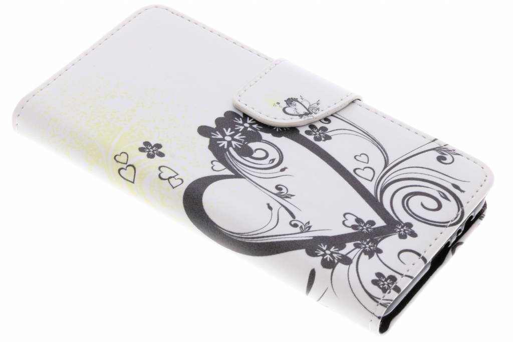 Hartje design TPU booktype hoes voor de Samsung Galaxy A8 (2018)