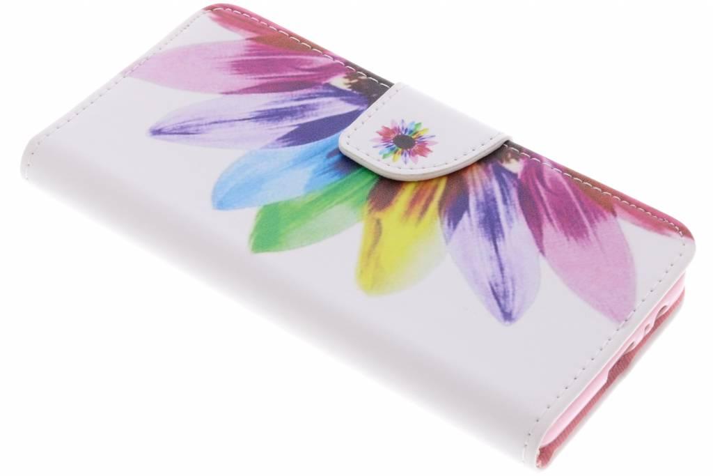 Regenboog design TPU booktype hoes voor de Samsung Galaxy A8 (2018)