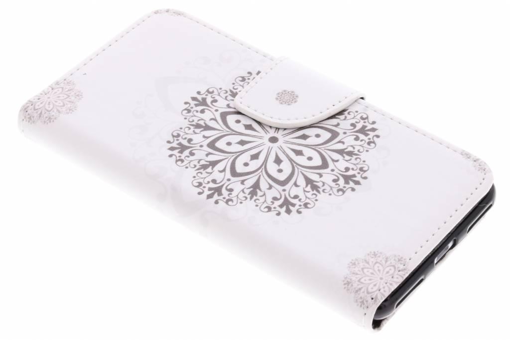 Bloem mandala design TPU booktype hoes voor de Huawei Y6 Pro (2017) / P9 Lite Mini