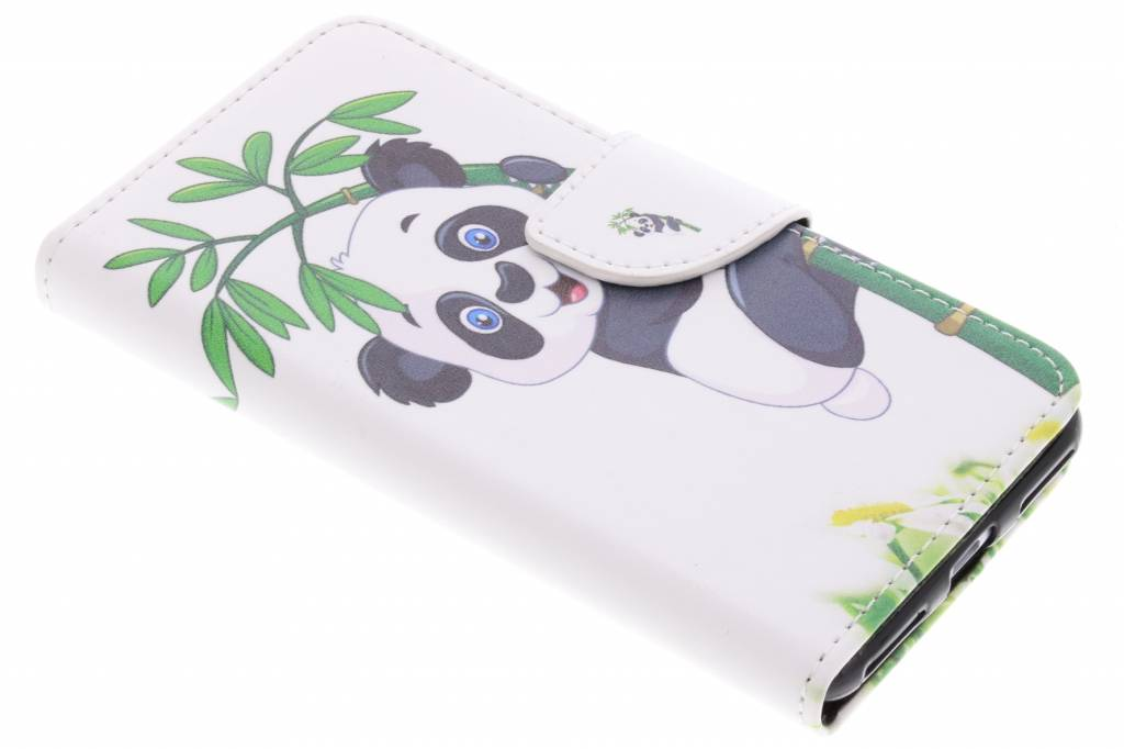Panda in boom design TPU booktype hoes voor de Huawei Y6 Pro (2017) / P9 Lite Mini