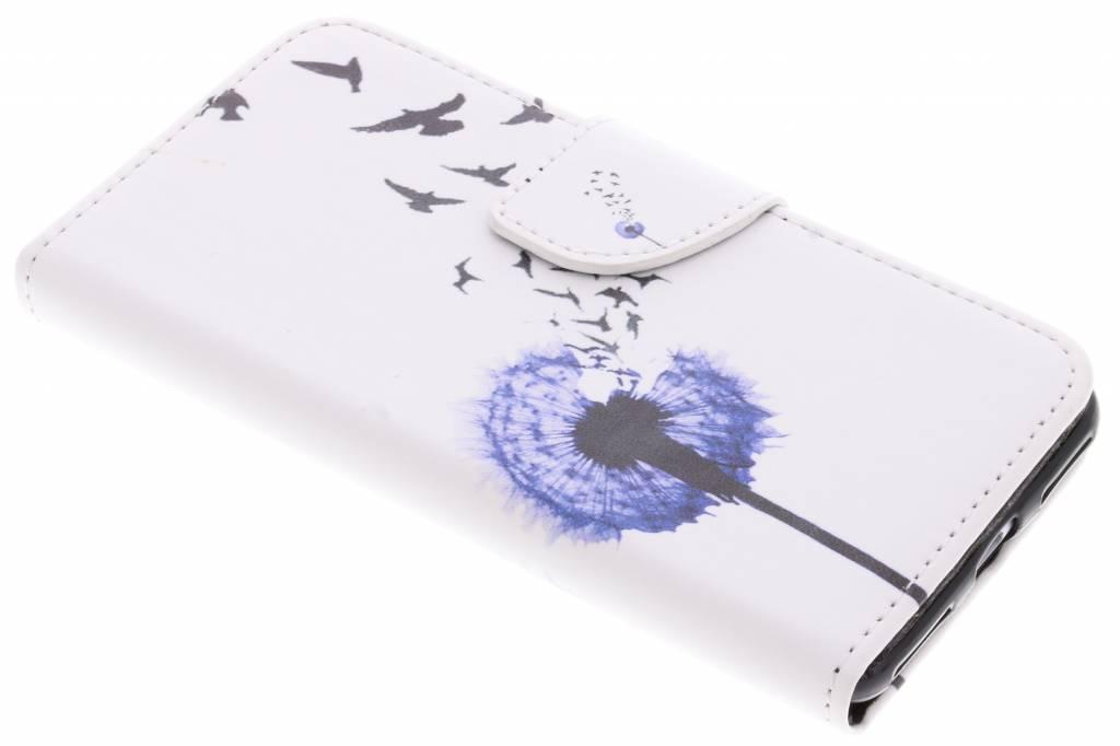 Paardenbloem design TPU booktype hoes voor de Huawei Y6 Pro (2017) / P9 Lite Mini
