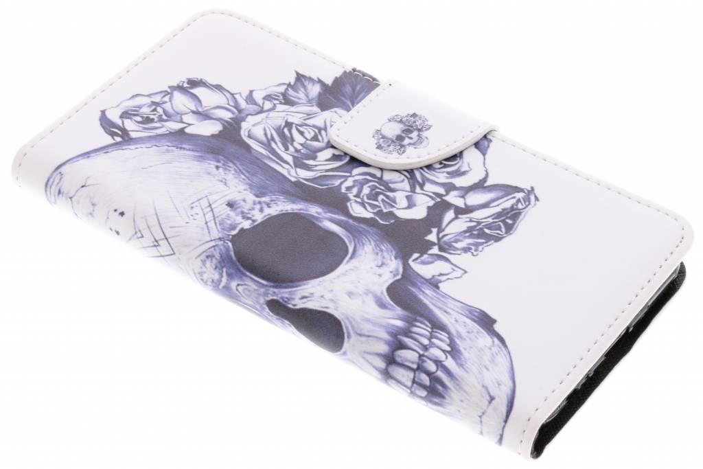 Doodshoofd design TPU booktype hoes voor de Huawei Mate 10 Lite